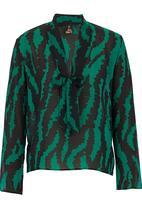 TART - Pussy-bow blouse Dark Green