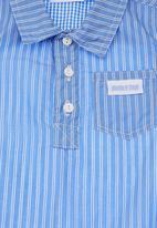 Phoebe & Floyd - Striped shirt romper Pale blue