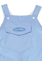 Phoebe & Floyd - Lined dungarees Pale blue