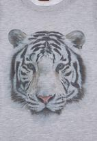 Sam & Seb - T-shirt with tiger print Grey