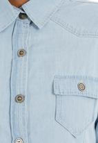 c(inch) - Denim shirt Blue