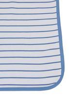 Phoebe & Floyd - Blanket with stripe and pindot print Pale blue