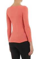 edge - Long-sleeve top Coral
