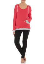 edge - Hooded lounge top Coral