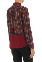 Traffic - Suzanne wine button-up shirt Multi-colour