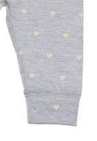 Charlie + Sophie - Heart-printed bottoms Grey