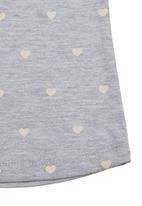 Charlie + Sophie - Heart-printed tee Grey