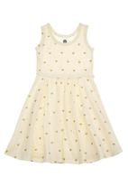 Charlie + Sophie - Heart-printed dress Neutral