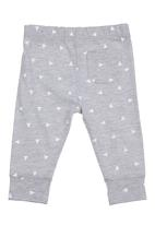 Charlie + Sophie - Triangle-printed bottoms Grey