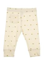 Charlie + Sophie - Heart-printed bottoms Neutral