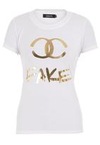 c(inch) - Fake tee with foil print White