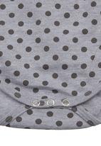 Sticky Fudge - Babygro with spot-print Grey