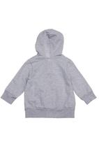 Sticky Fudge - Zip-up hoodie with love print Grey