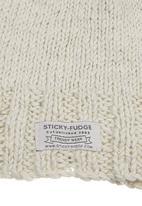 Sticky Fudge - Hand-knitted beanie  Stone/Beige