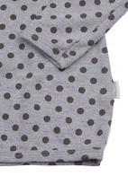 Sticky Fudge - Printed long-sleeved top Grey