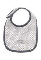 Sticky Fudge - Branded bib Grey