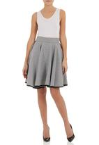 adam&eve; - Houndstooth high-waisted skirt Black/White