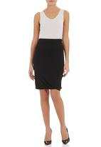 TART - Twist skirt Black