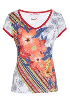 Smash - Floral Abstract T-Shirt Multi-colour