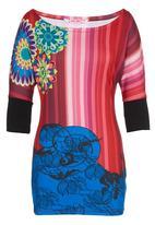 Smash - 3/4 Sleeve Tunic Multi-colour