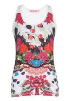 Smash - Abstract Floral Tank Multi-colour