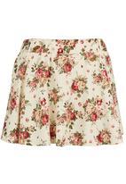 Suzanne Betro - Floral Mini Skirt Multi-colour