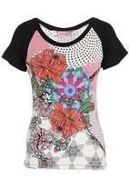 Smash - Floral Abstract Top Multi-colour