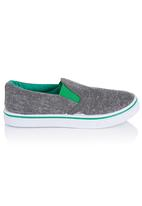 Brats - boys loafers with contrast Grey