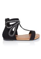 Brats - Gladiator Sandals with Studs Black