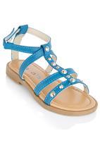 Brats - Studded Strap Sandals Mid Blue