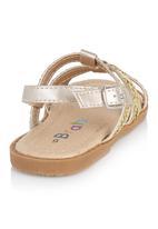 Brats - Foil Strappy Sandals Gold