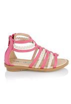 Brats - Plait Strap Gladiator Sandals Dark Pink