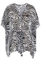 edit - Zebra-Print Kaftan Black/White