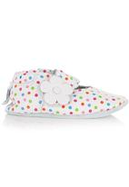shooshoos - Spotted Leather Shoes Multi-colour