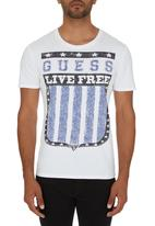 GUESS - Live Free T-shirt White