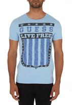 GUESS - Live Free T-shirt Blue
