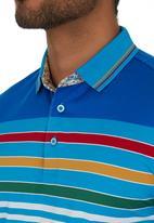 Jonathan D - Mercerized Detailed Golfer Mid Blue