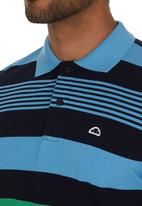 Ellesse - Stripe Golfer Pale Blue