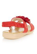 Foot Focus - Big flower Sandal Red
