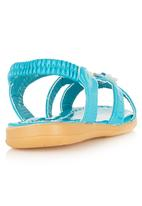 Foot Focus - Floral Sandals Turquoise