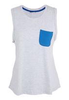 edge - Slouchy Yoga Vest  Grey