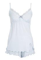 Lila Rose - Cami and Shorts Set Blue