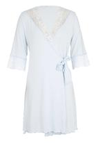 Lila Rose - Gown with Lace Trim Blue