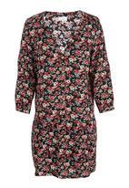 edit - Ditsy print drop waist tunic Multi-colour