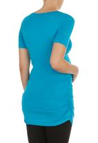 Cherry Melon - Side-Gauge Top Turquoise