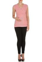 Me-a-mama - Coco Wrap Top Pink