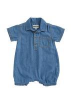 Phoebe & Floyd - Shirt Romper Dark Blue Black Denim