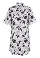 edit - Printed Shirt Tunic Black/White