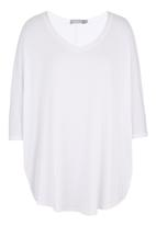 JUST CRUIZIN - Batwing Top White
