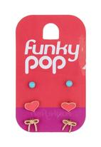 FUNKY FISH - Girls Earrings Set Multi-colour